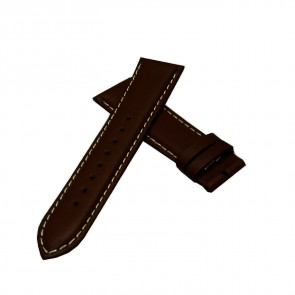 TRIARROWS Shiny Deep Brown Watch Leather Strap