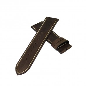 TRIARROWS Deep Brown Watch Leather Strap